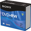 Buy Cases  - Sony 10-Pack 4x DVD+RW Discs with Jewel Cases