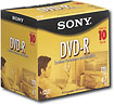 SONY 10-Pack of Blank 4.7GB DVD-R Discs