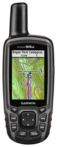 Garmin - Gpsmap 64st 2.6 Handheld GPS with Built-In Bluetooth - Gray