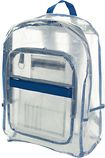 Trademark Global - Toppers Transparent Backpack - Clear/Royal Blue