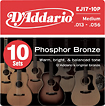 D'Addario - Phosphor Bronze Medium Acoustic Guitar Strings (10-Pack)