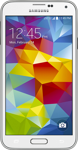 Boost Mobile - Samsung Galaxy S 5 4G No-Contract Cell Phone - Shimmery White