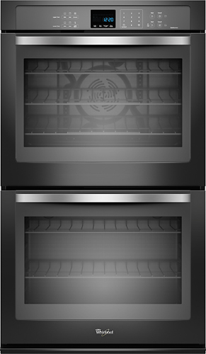 Whirlpool - 30 Built-In Double Electric Convection Wall Oven - Black