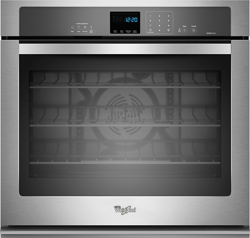 Whirlpool - 27 Built-In Single Electric Convection Wall Oven - Stainless Steel (Silver)