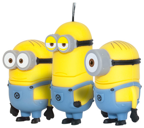EP Memory - Despicable Me Minion Kevin, Dave and Stuart 64GB USB 2.0 Flash Drives (3-Count) - Yellow