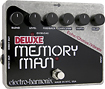 Electro-Harmonix - DELUXE MEMORY MAN Analog Delay Pedal - Silver/Black/White/Red