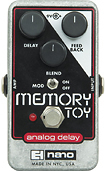 Electro-Harmonix - MEMORY TOY Analog Delay Pedal - Silver/Black/White/Red