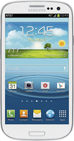 Samsung - Galaxy S III 4G with 16GB Mobile Phone - Marble White (AT&amp;amp;T)