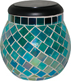 Smart Solar - Glass Mosaic Solar T-Light - Azure
