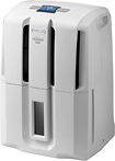 DeLonghi - 40-Pint Portable Dehumidifier - White
