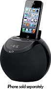 iLive - Clock Radio with FM Radio and Apple iPod and iPhone Dock - Black