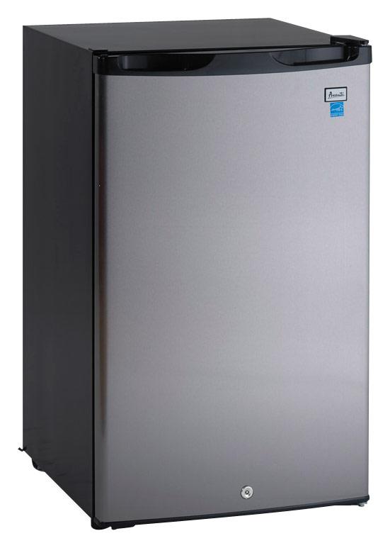 Avanti - 4.5 Cu. Ft. Compact Refrigerator - Black/Stainless Steel (Black/Silver)