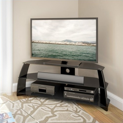 CorLiving - Taylor TV Stand for Most Flat-Panel TVs Up to 60 - Black