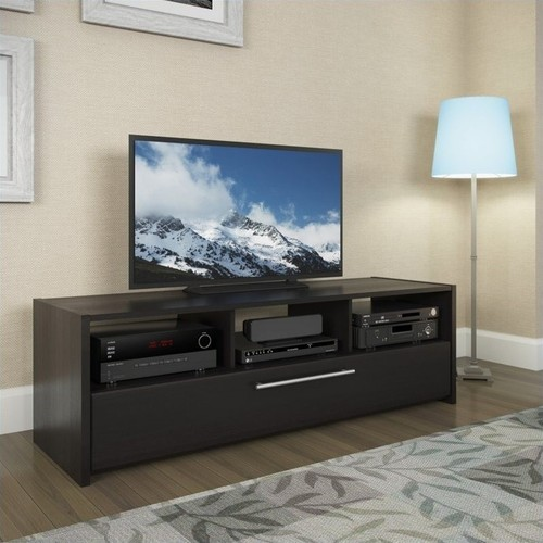 CorLiving - Naples TV Bench for Most Flat-Panel TVs Up to 68 - Black