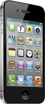 Virgin Mobile - Apple iPhone 4 with 8GB Memory No-Contract Phone - Black