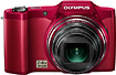 Olympus - Refurbished SZ-11 140-Megapixel Digital Camera - Red