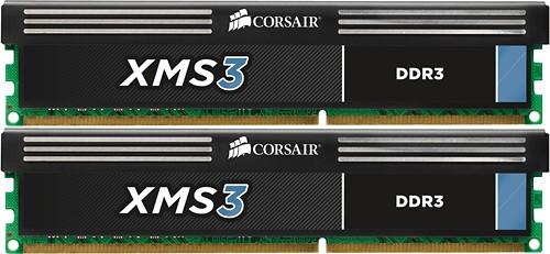 Corsair - XMS3 2-Pack 8GB CL9 DDR3 Dimm Desktop Memory Kit - Multi