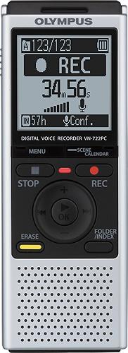 Olympus - VN-722PC Digital Voice Recorder - Silver