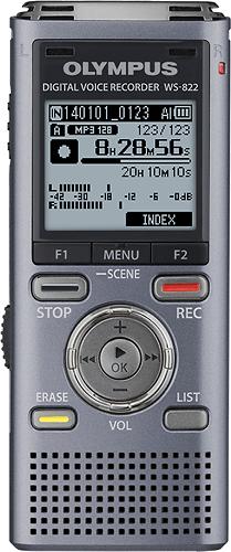 Olympus - WS-822 Digital Voice Recorder - Gray