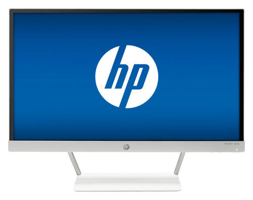 HP - 21.5 IPS LED HD Monitor - Snow White/Natural Silver