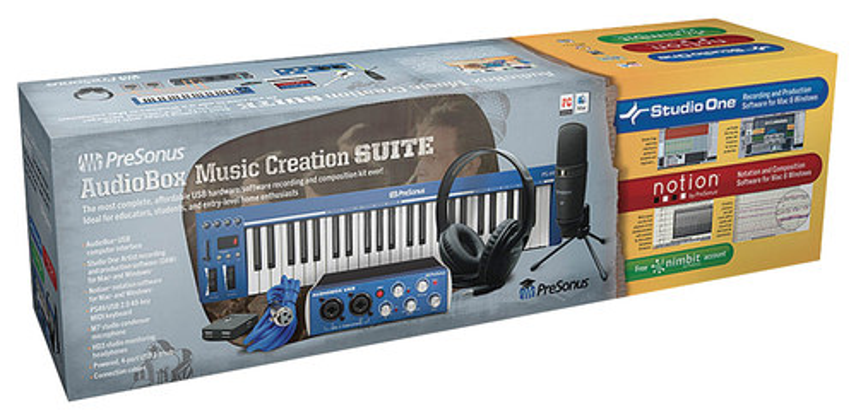 PreSonus - Audiobox Music Creation Suite Kit - Blue