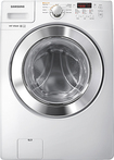 Samsung - 36 Cu Ft 9-Cycle High-Efficiency Steam Front-Loading Washer - White