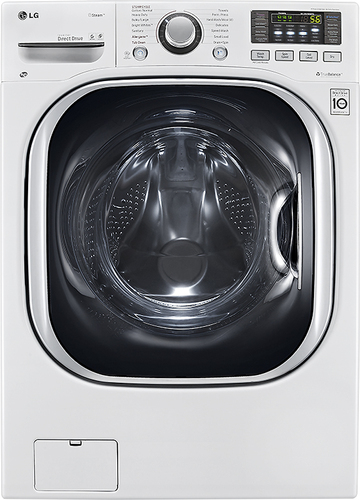 LG - 4.3 Cu. Ft. 14-Cycle Washer and 8-Cycle Dryer Electric Combo - White