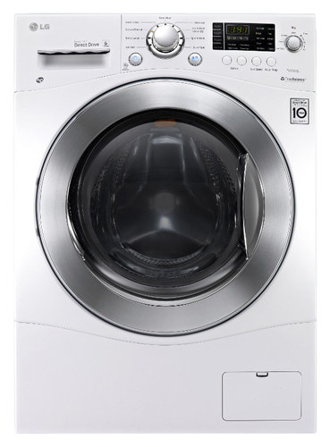 LG - 2.3 Cu. Ft. 9-Cycle Washer and 7-Cycle Dryer Electric Combo - White