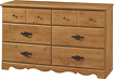 South Shore - Prairie Collection 6-Drawer Dresser
