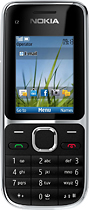 Nokia - C2-01 Mobile Phone (Unlocked) - Black