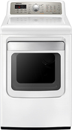 Samsung - 7.4 Cu. Ft. 13-Cycle Steam Electric Dryer - White DV484ETHAWR
