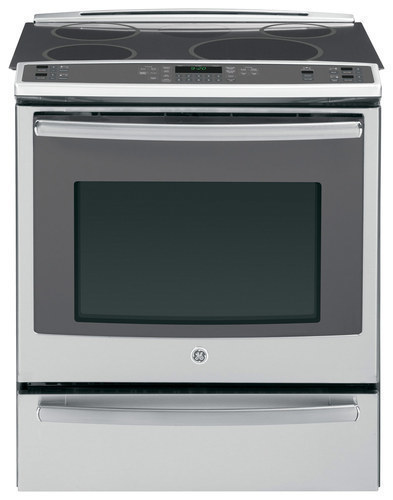 GE - Profile Series 30 Self-Cleaning Slide-In Electric Convection Induction Range - Stainless Steel (Silver)