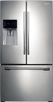Samsung - 256 Cu Ft French Door Refrigerator with Thru-the-Door Ice and Water - Stainless Platinum