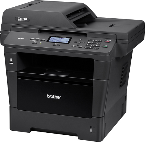 Brother - DCP-8150DN Black-and-White All-In-One Printer - Black