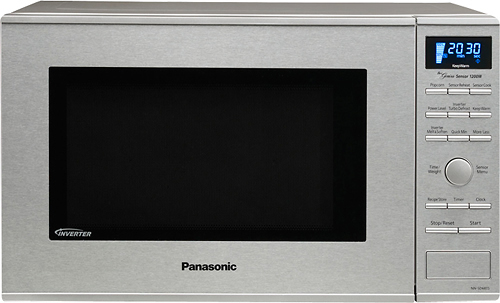 Panasonic - 1.2 Cu. Ft. Mid-Size Microwave - Stainless Steel (Silver)