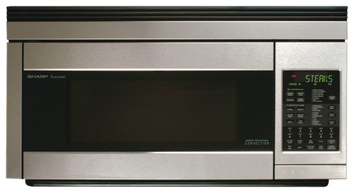 Sharp - 1.1 Cu. Ft. Convection Over-the-Range Microwave with Sensor Cooking - Stainless Steel (Silver)