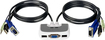 Buy IOGEAR MiniView Micro 2-Port USB Plus KVM Switch with Built-In 6' Cables