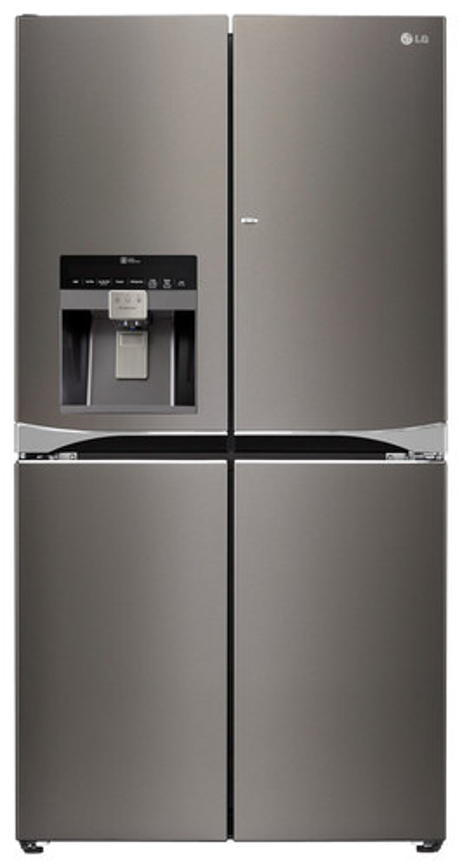 LG - 29.8 Cu. Ft. 4-Door Door-In-Door French Door Refrigerator - Black Stainless Steel