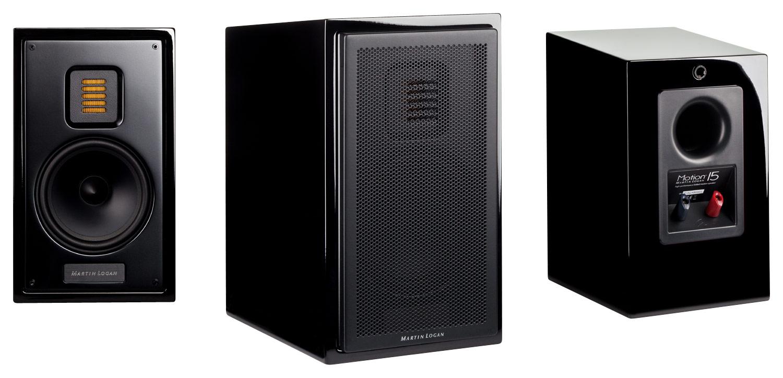 MartinLogan - Motion 15 5-1/4 2-Way Bookshelf Speaker (Each) - Black
