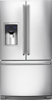 Electrolux - 278 Cu Ft French Door Refrigerator with Thru-the-Door Ice and Water - Stainless-Steel