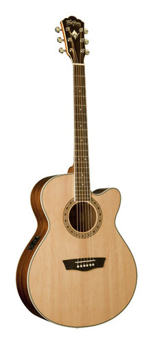 Washburn - Heritage Series 6-String Full-Size Cutaway Acoustic/Electric Guitar - Natural