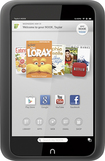 Barnes & Noble - NOOK HD Tablet with 8GB Memory - Smoke