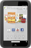 Barnes & Noble - NOOK HD Tablet with 16GB Memory - Smoke