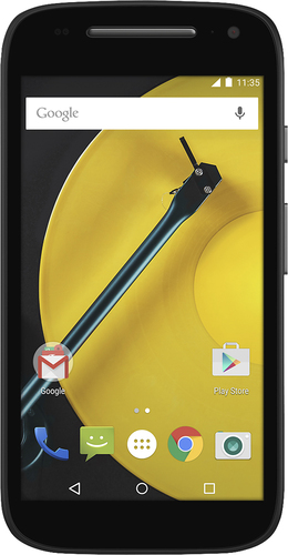 At&t GoPhone - Motorola Moto E with 8GB Memory No-Contract Cell Phone - Black
