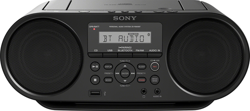 Sony - CD Boombox - Black