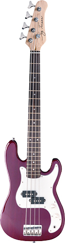 Jay Turser - 4-String 3/4-Size P-Style Electric Bass - Trans Red