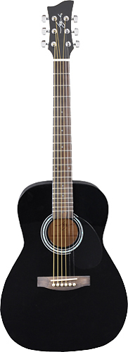 Jay Turser - Jay J Series 6-String 3/4-Size Dreadnought Acoustic Guitar - Black