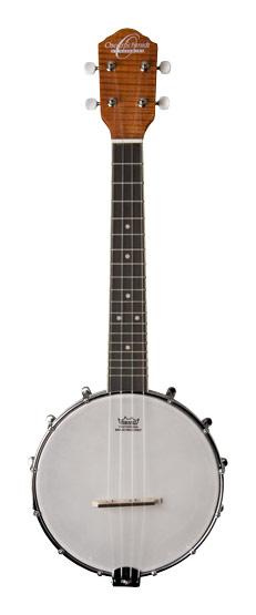 Oscar Schmidt - 4-String Concert-Size Banjo-Style Ukulele - Brown/White