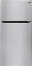 LG - 23.8 Cu. Ft. Top-Freezer Refrigerator - Stainless-Steel