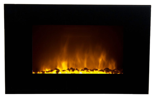Warm House - Oslo Electric Fireplace - Black